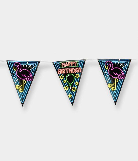 Slinger neon happy birthday