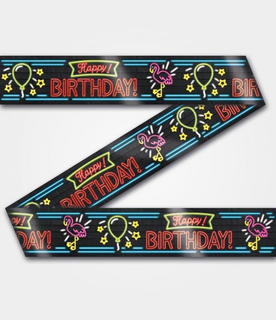Neon Tape happy birthday